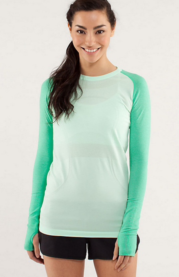 My superficial endeavors finally some cute lululemon for Long sleeve technical running shirt