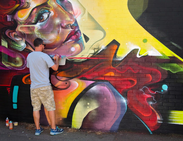 Street artists, Josephine Avenue's annual Urban Art festival, July 2015