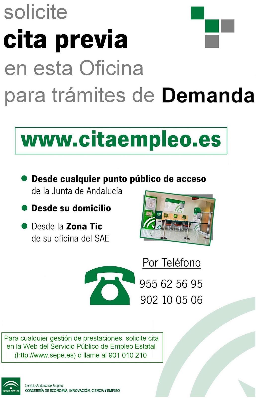 Cita previa para la oficina de empleo de mairena del alcor desarrolla t - Oficina de empleo andalucia ...