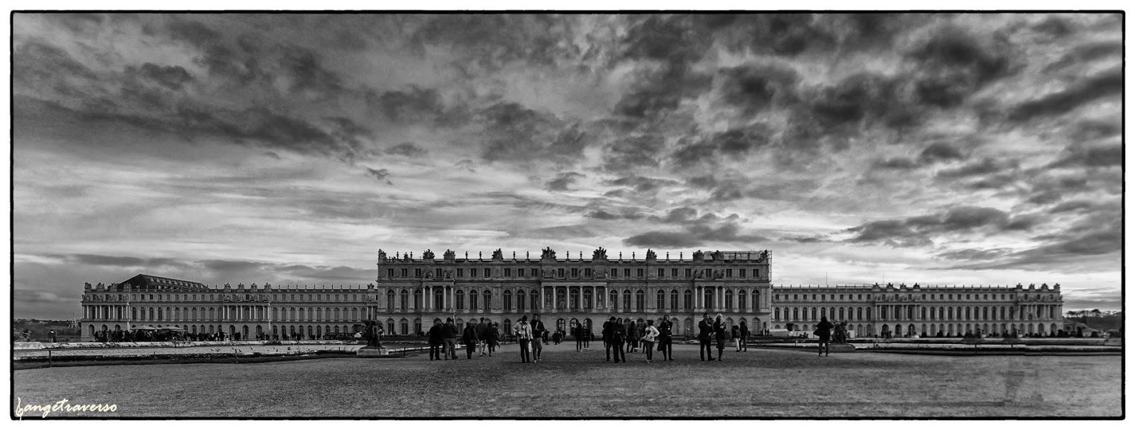 Hiver, nouvel an à Versailles, France