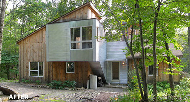 From rustic to radical updating an upstate new york for Upstate new york cabin