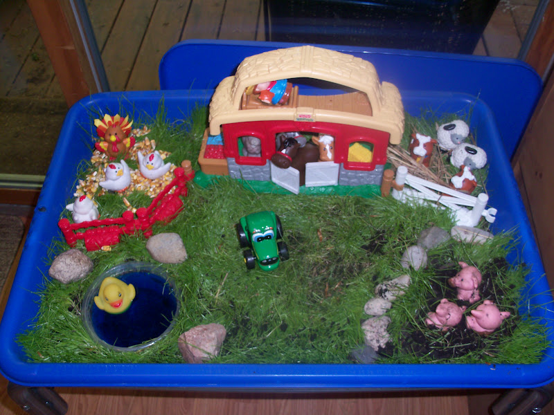 The Thoughtful Spot Day Care: Down on the Farm - Sensory Table
