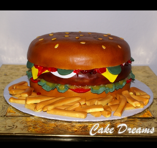CAKE DREAMS: Burger Birthday cake