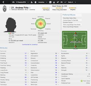 FM14 Player Analysis Andrea Pirlo