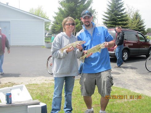 Amy's First Walleye !!