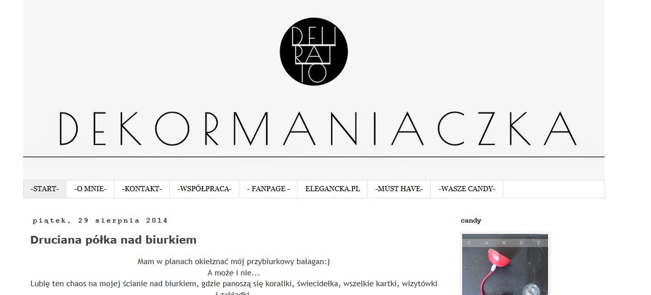 Blog Dekormaniaczka