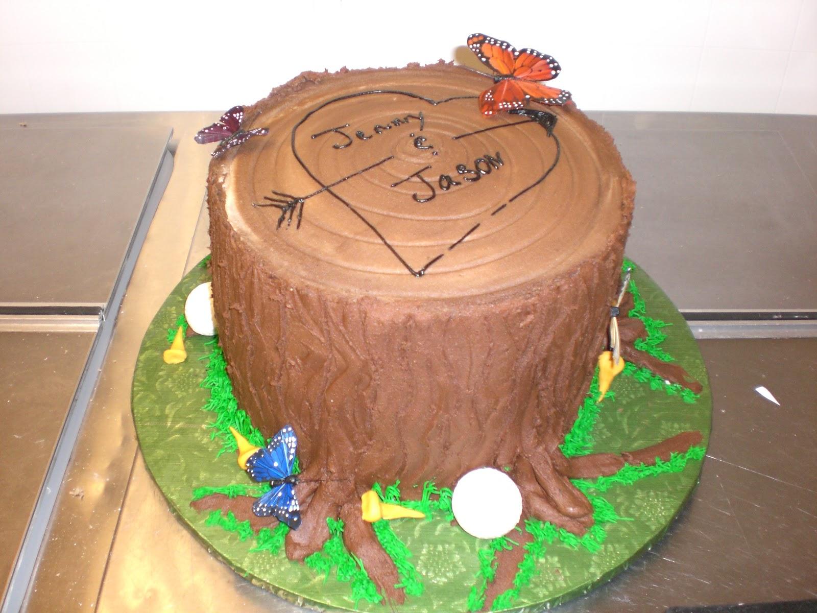 Cake Art Lawrenceville Hwy : CAFE AROMAS: Tree Stump Cake