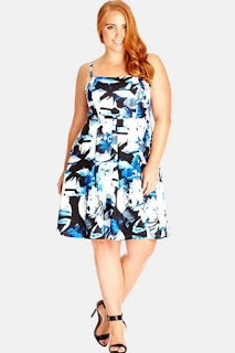 City Chic 'Blue Rose' Sundress (Plus Size)