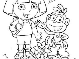 Little Girl Coloring Pages For Kids