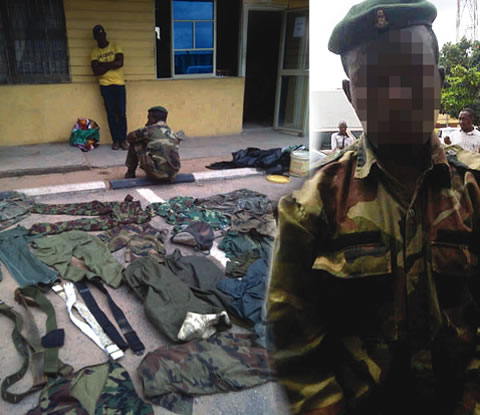 fake nigerian army officer arrested