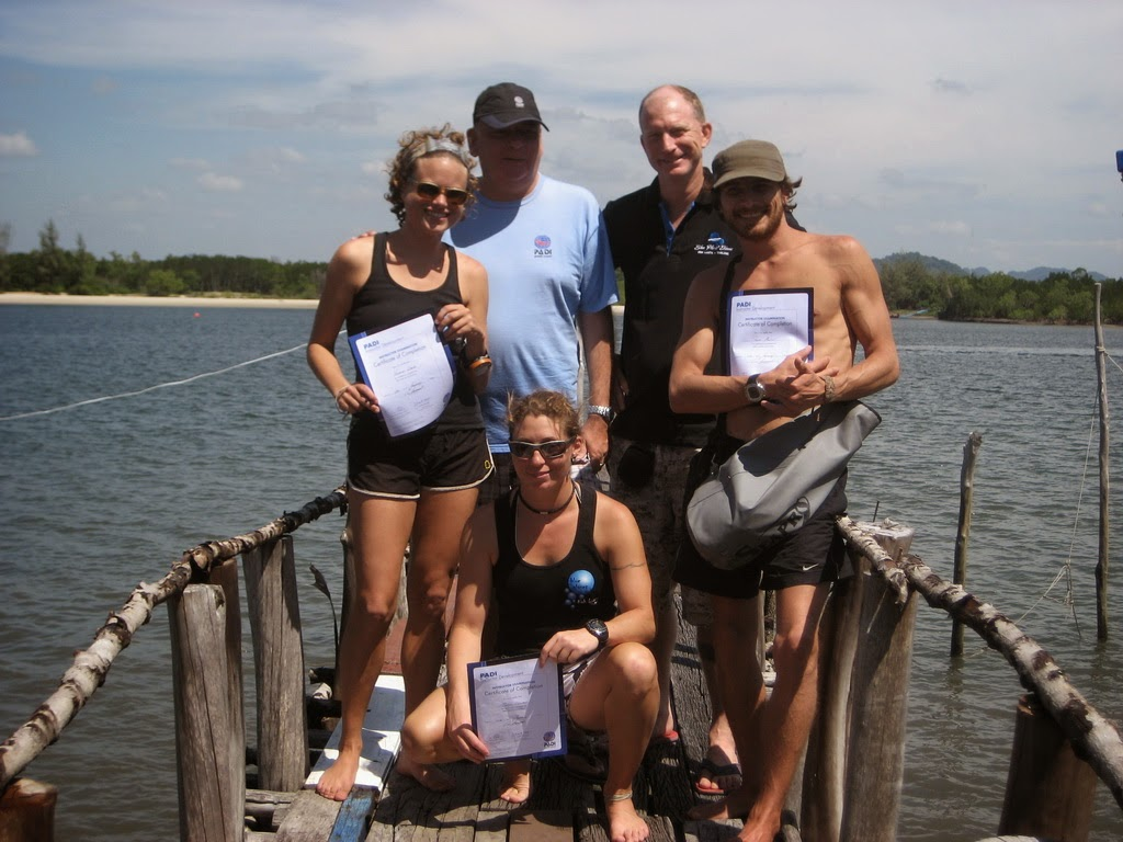 PADI IE for January 2015 on Koh Lanta in Thailand was successful