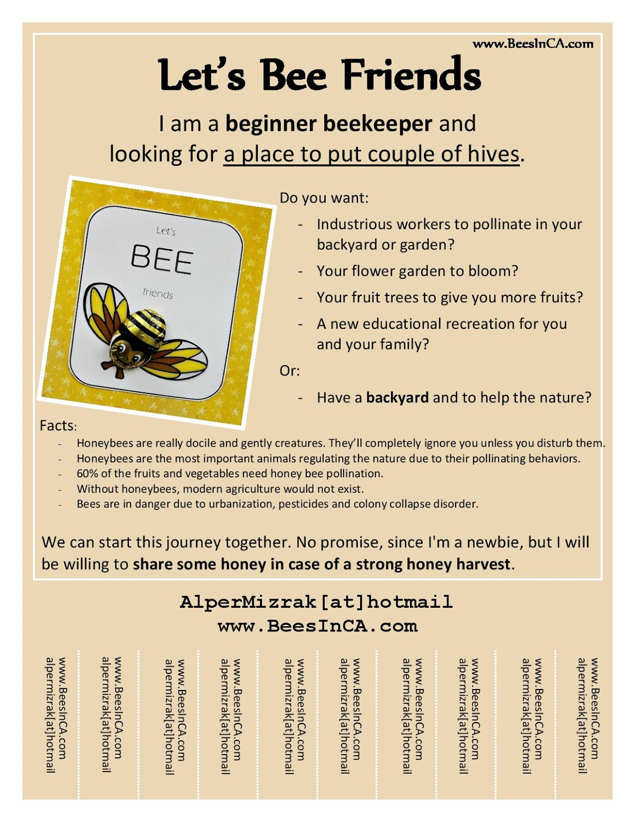 bees in ca 2012