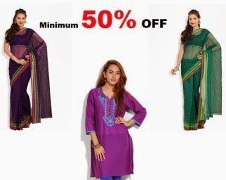 Myntra: Buy Kurtis, Saris And More At Minimum 50% OFF