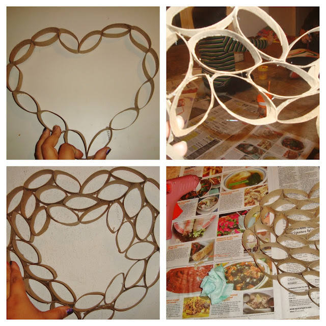 Wall Art Heart Collage : There s magic out diy heart wall decor