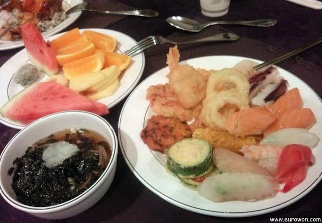 Menú de una boda coreana