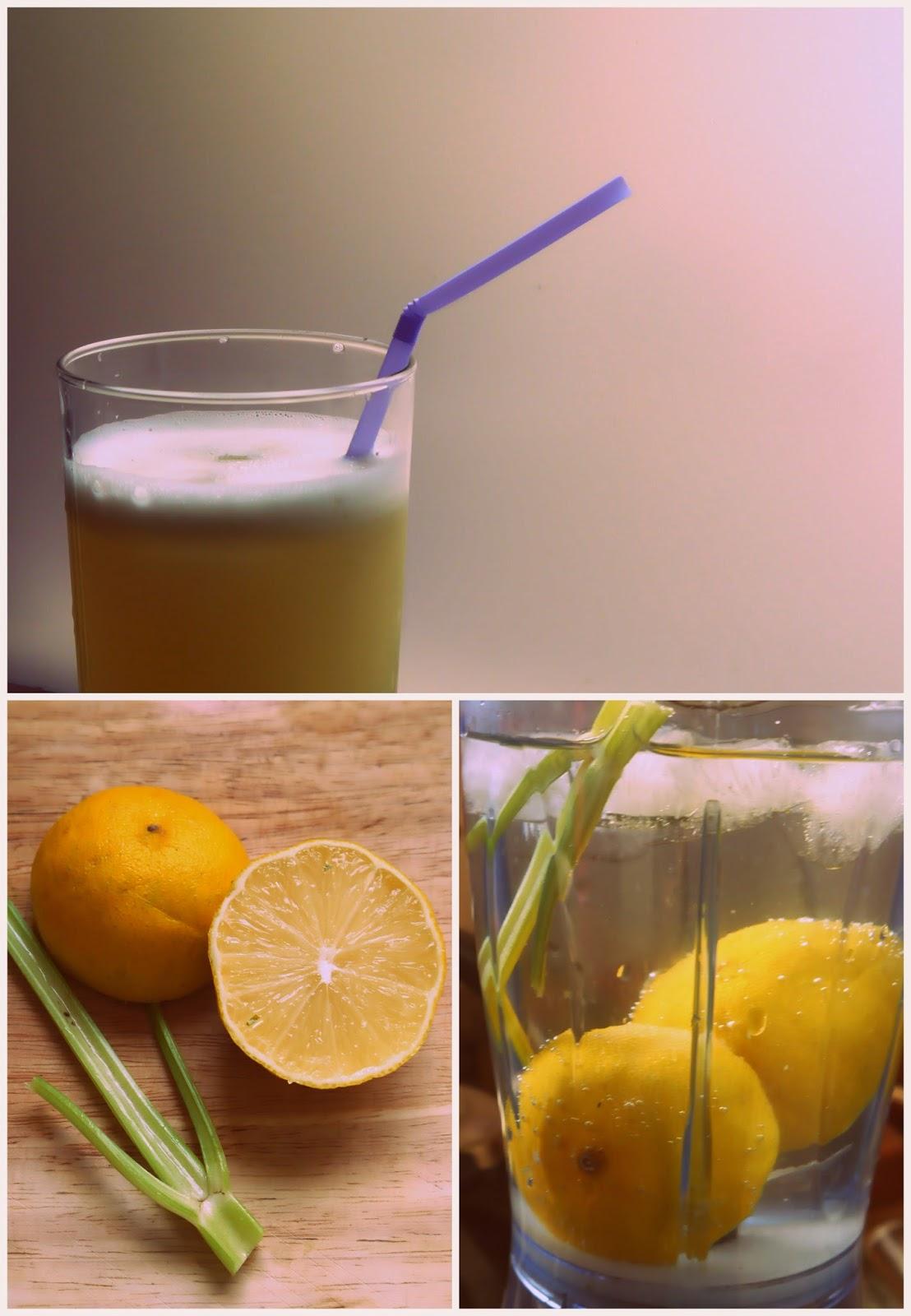 zumos y agua saborizada con apio
