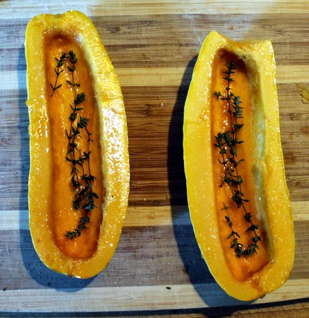 Thanksgiving in pictures: delicata squash with thyme