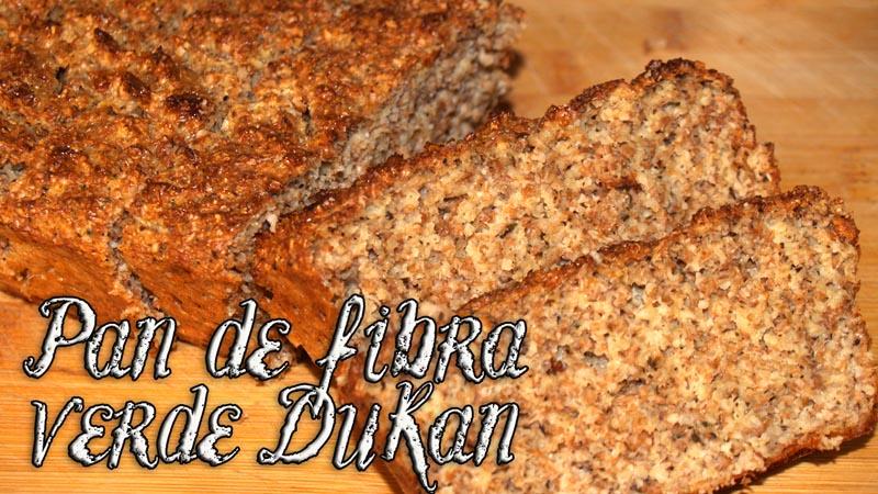 Pan para el estreñimiento de fibra verde Dukan