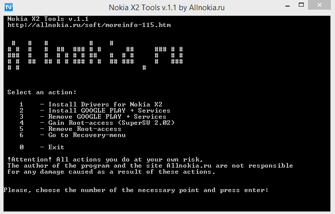 Nokia x2 tools
