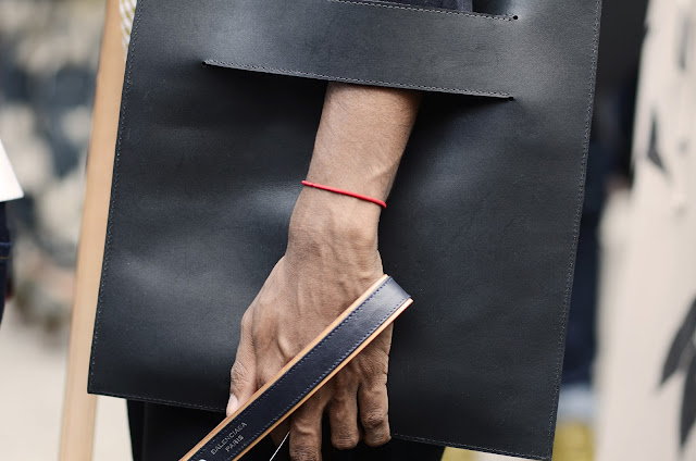 Balenciaga, Paris, Accessories, Bag, Black, Street Style, Details, Hand, Leash
