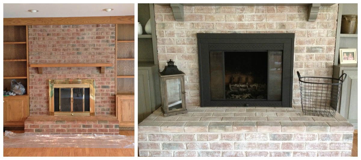 Brass Fireplace Update - East Coast Creative Blog