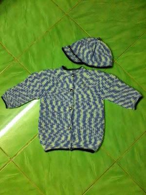 mũ và áo len cho bé