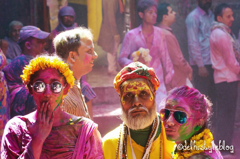 Holi at Banke Bihari Temple 5
