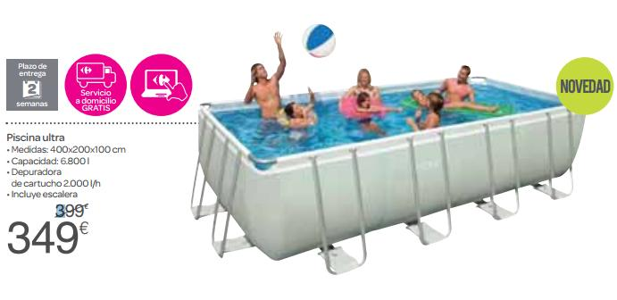 Carrefour catalogo carrefour piscinas 2017 for Piscinas hinchables carrefour precios
