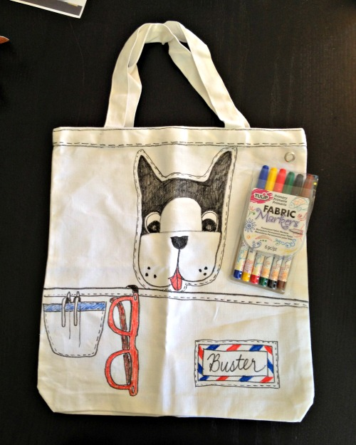 Draw Your Own Doggie Tote