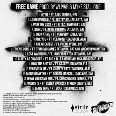 """SupaHotBeats - """"Free Game"""" Mixtape / www.hiphopondeck.com"""