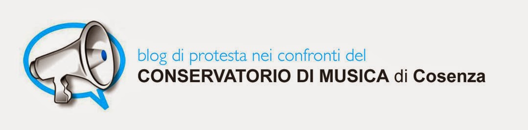 Protesta al Conservatorio di Musica di Cosenza