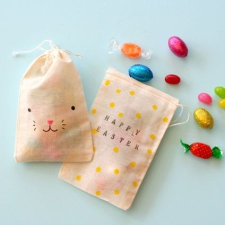 cute cotton bags for Easter treats