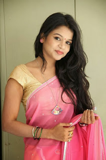 Actress Bhavya Sri Pictures in Saree at Premaledani Movie Press Meet  0070.jpg