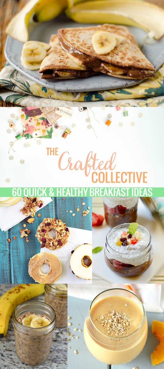60 Quick & Healthy Breakfast Ideas--Perfect recipes for those hectic school mornings! www.pitterandglink.com