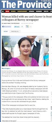 Ravinder Kaur Bhangu murder - Surrey, B.C.