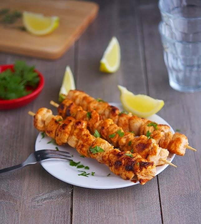 Peri Peri Chicken Kebabs