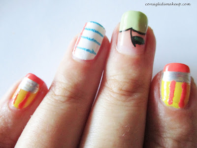 Nail art: back to school