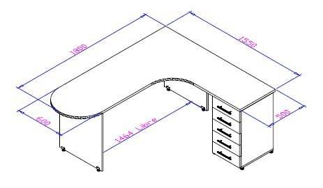 Interiores y 3d 3 3d studio max modelado de escritorio for Dimensiones de escritorios de oficina