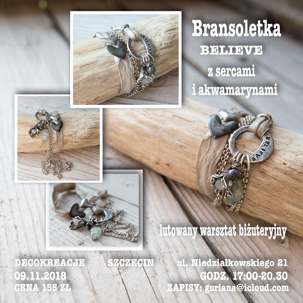 DecoKreacje Szczecin Bransoletka Believe