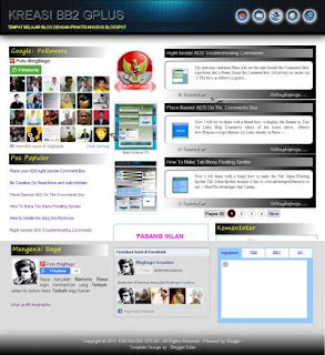 Blogger Template Kreasi BB.2 G+