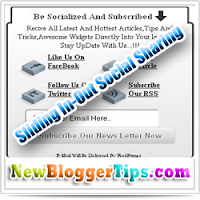Add Sliding In-Out Social Sharing For Blogger