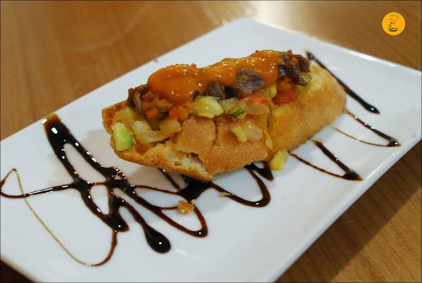 La Jamboteca: Tosta de carne argentina al estilo azteca