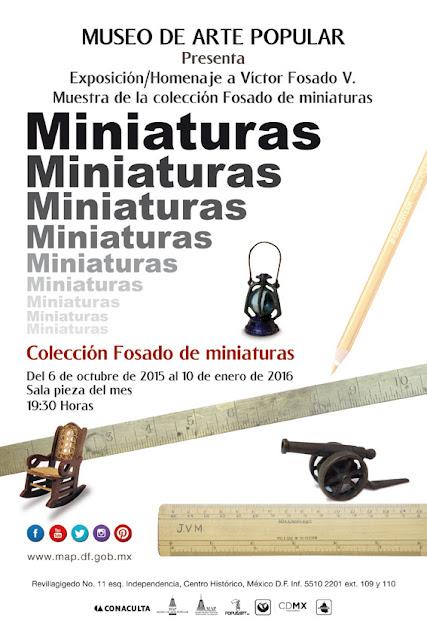 Colección Fosado de Miniaturas en esta muestra del Museo de Arte Popular