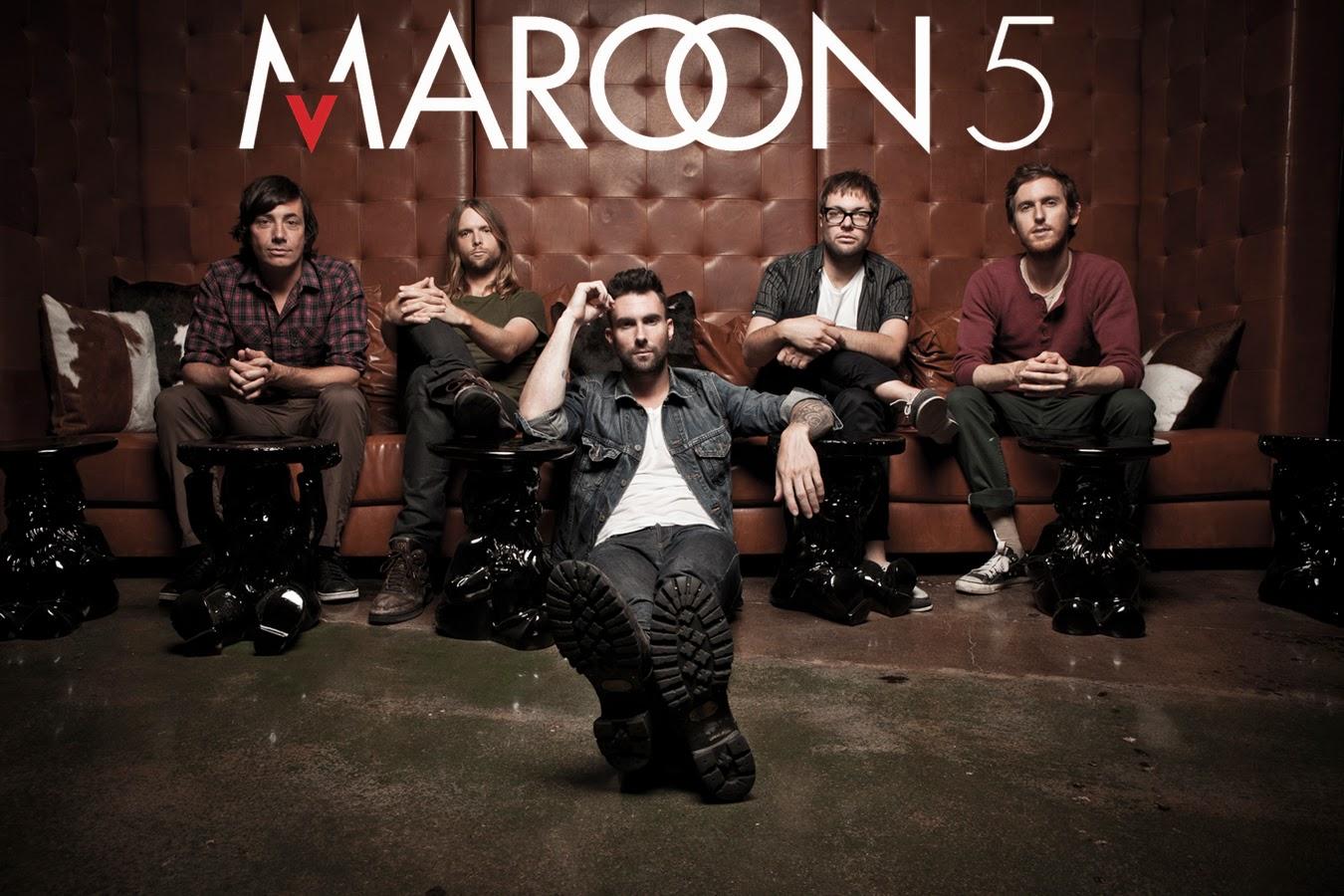 Adam Levine Maroon 5 band poster