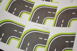 Printable road map corners