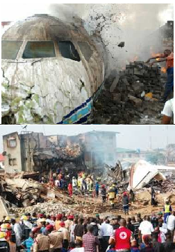 Dana Air crash pictures