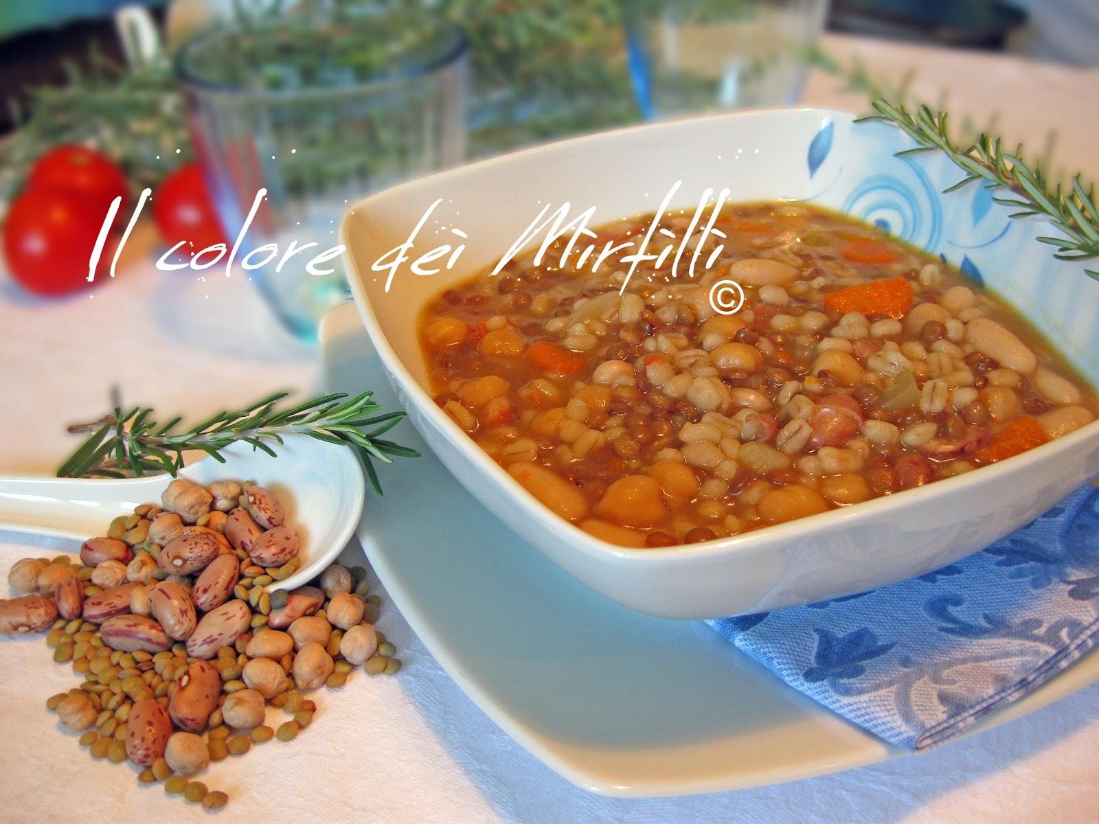 zuppa rustica, zuppa di legumi, orzo, zuppa, legumi, farro, ceci, lenticchie, fagioli, primo piatto, ricetta