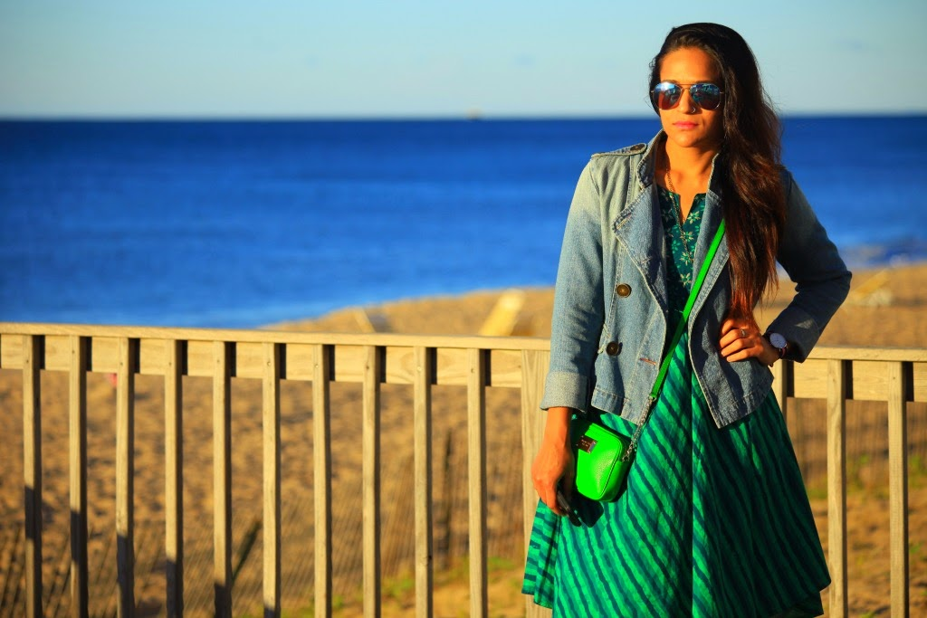 Tunic worn as Dress - Cottons Jacket - Bershka (Circa 2002) Shoes - GAP Bag - Michael Kors Watch - c/o Daniel Wellington Tanvii.com