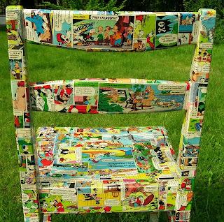 krzesło do pokoju dziecięcego decoupage