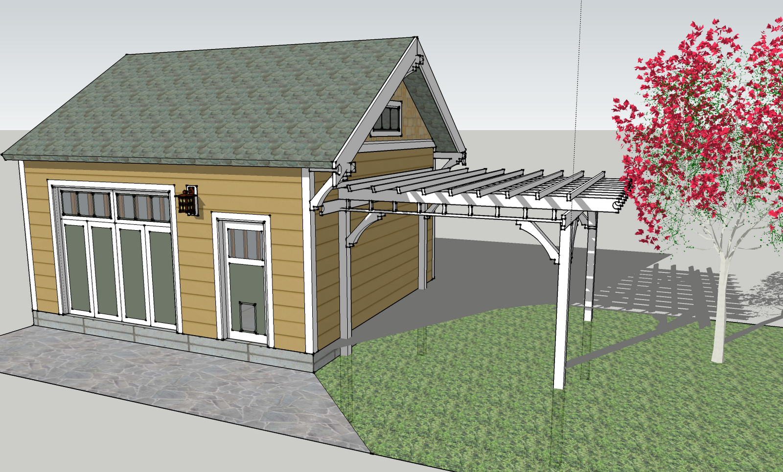 Solid roof pergola plans in addition park bench picnic table moreover - Diy Gable Pergola Plans